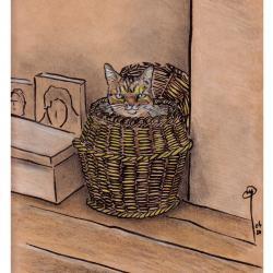 Caramel dans son panier